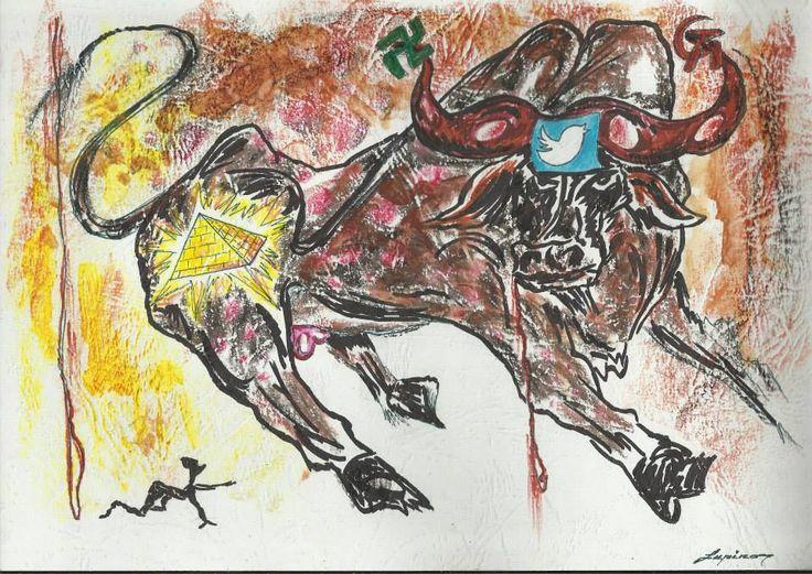 Corida virtual ideology-graphics-21X29-100$-LUPINO-Email: mlupubm@yahoo.com