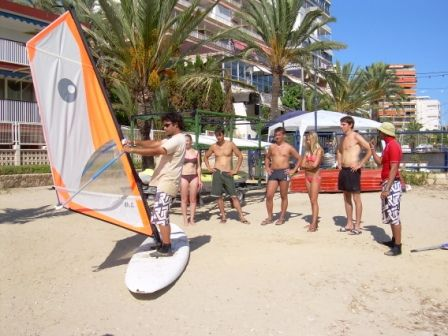Just some of our students on the Alicante beach and getting ready to surf....