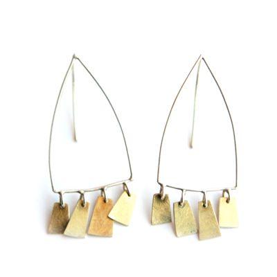 Bimetal arch earrings by Didi Sudyam, sterling silver and bimetal. Gallery Lulo.