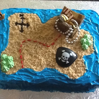 Kids pirate birthday cake