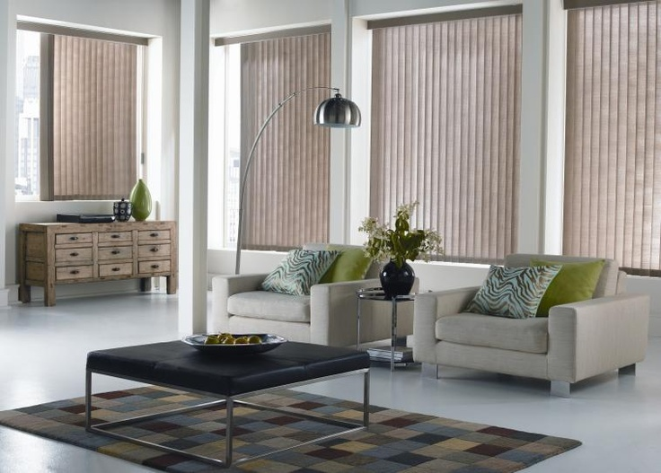 Earth Tone Vertical Blinds from Budget Blinds in Grimsby