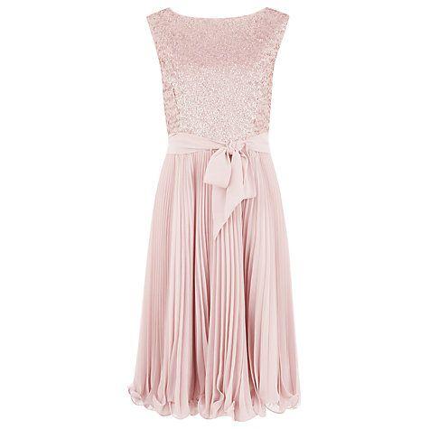 Buy Kaliko Beaded Bodice Prom Dress, Pink Online at johnlewis.com