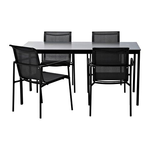 GARPEN Table and 4 armchairs IKEA Patio furniture Pinterest