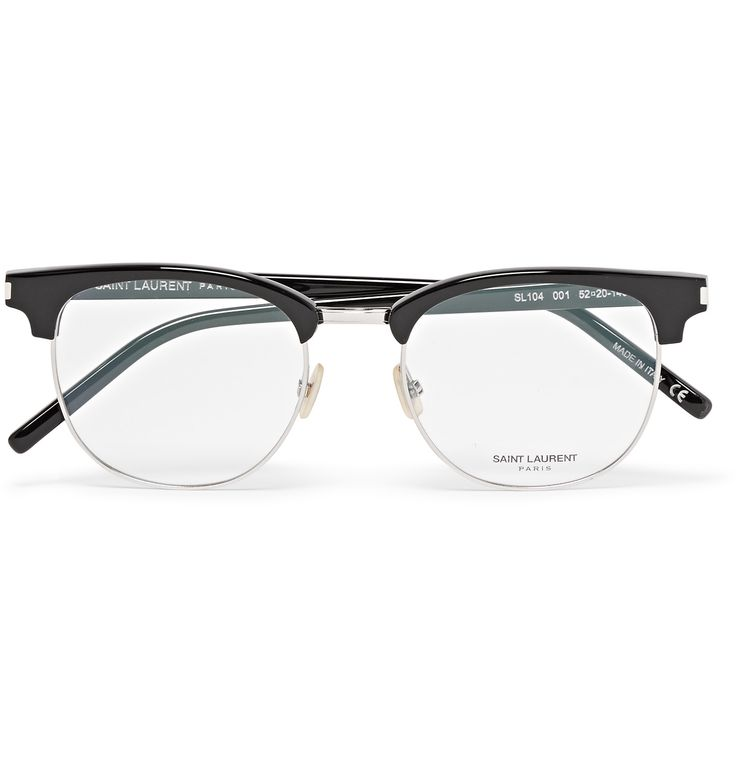 Raise your sights with these glasses by Parisian label <a href='http://www.mrporter.com/mens/Designers/Saint_Laurent'>Saint Laurent</a>. They've been expertly crafted in Italy with black acetate arms and a brow bar for a distinguished look. Metal rims give the style a sleek finishing touch. Fit them with either UV or prescription lenses.