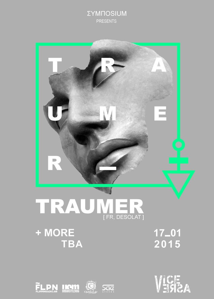 17 JAN | TRAUMER  at Vice Verca, Athens.  RSVP: https://www.facebook.com/events/1514984652100940/  #techno #desolat #graphics #poster #athens #house #music