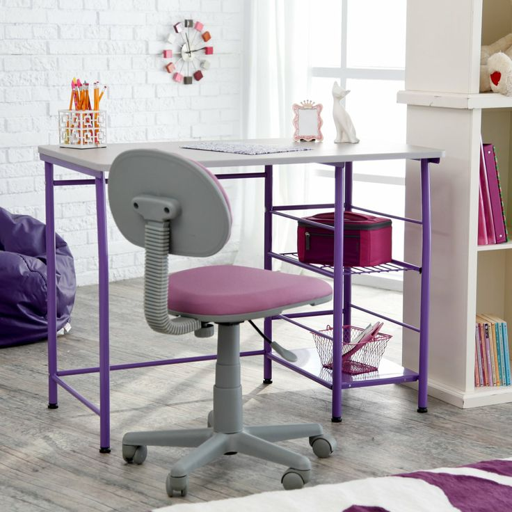 Study Zone II Desk & Chair - Purple   This would be great for Taylor
