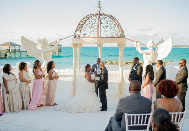 Sandals Real Wedding Sunny Dario Say I Do At Royal Bahamian
