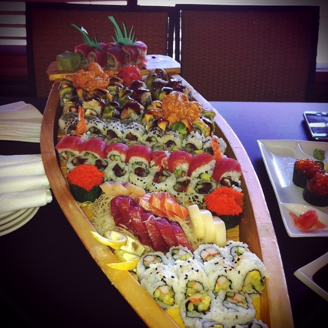 It's not a party without a sushi boat!