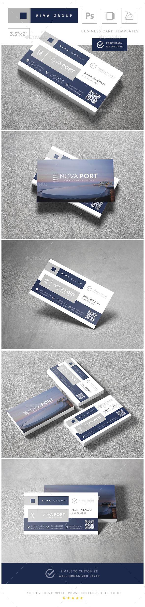 Nova - #Real Estate #Business #Card Templates - Business Cards Print Templates