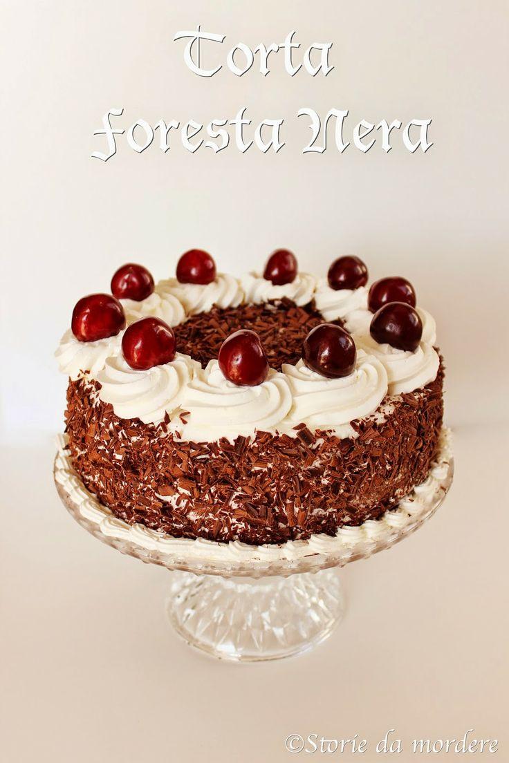 Schwarzwälder kirschtorte: la torta della Foresta Nera #black forest #cake #cherry #chocolate