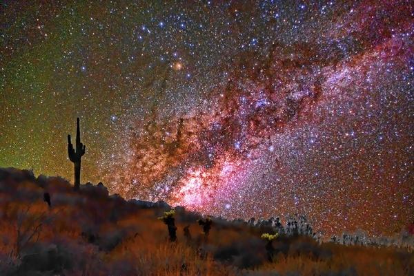 Desert Milky Way Art Print