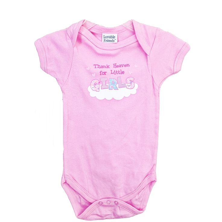Luvable Friends Baby Girls Thank Heaven For Little Girls Bodysuit Size 6-9 Months