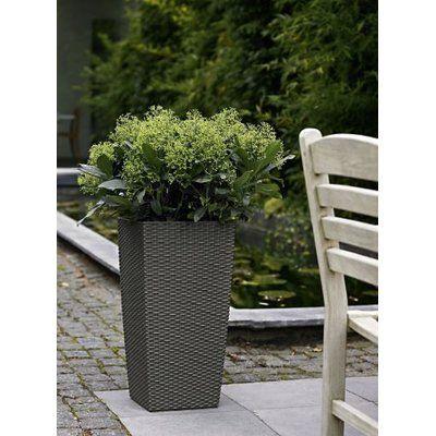 """Lechuza Cubico Cottage Self-Watering Pot Planter Color: Granite, Size: 30"""" H x 16"""" W x 16"""" D"""