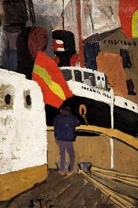 El Puerto de Barcelona - Joaquin Torres Garcia