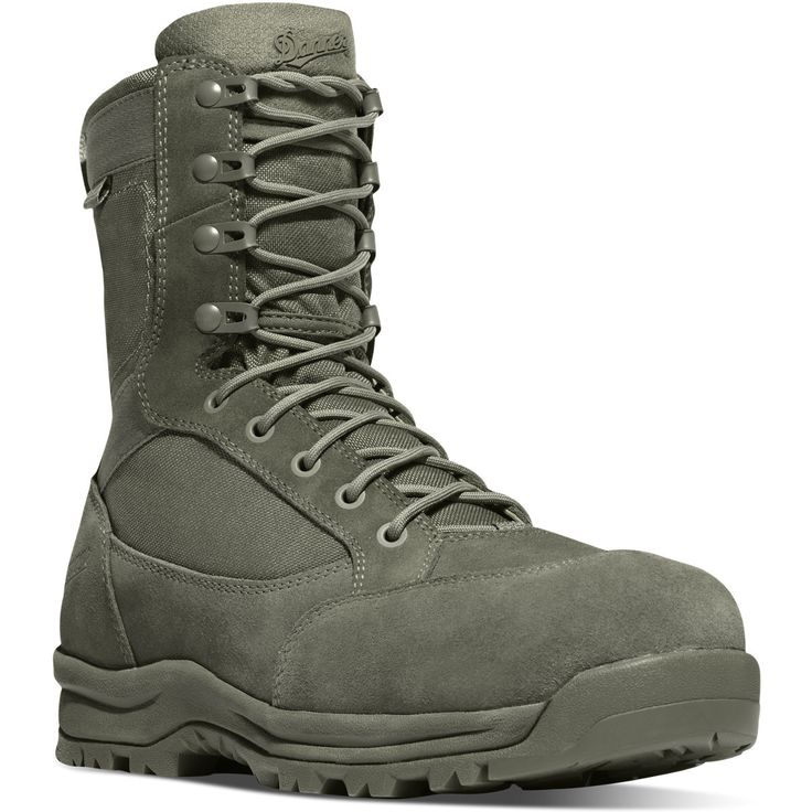 "Danner Waterproof Tanicus 8"" Safety Toe Boot in Sage Green"