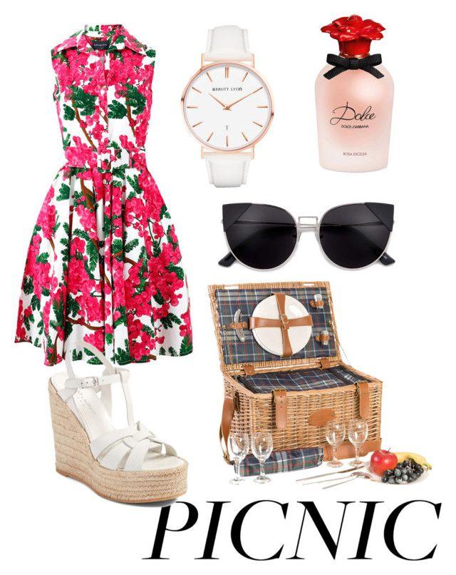 picnic by chiara30stm on Polyvore featuring polyvore fashion style Samantha Sung Yves Saint Laurent Abbott Lyon Dolce&Gabbana Les Jardins de la Comtesse clothing