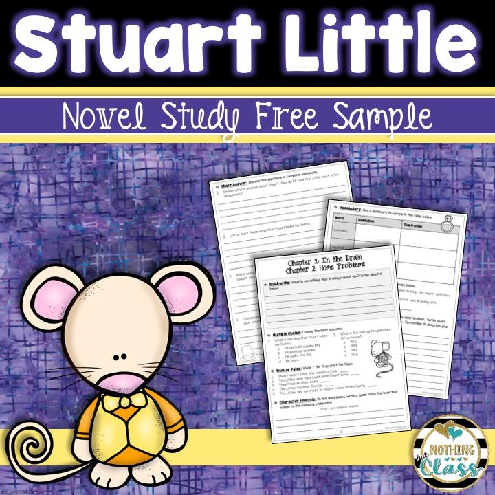 This is a 7 page FREE sample of my Common Core aligned literature unit for Stuart Little, by E.B. White. It includes comprehension, vocabulary, and a bonus Common Core aligned activity. Perfect no prep book companion!