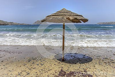 Umbrella On Beach - Download From Over 58 Million High Quality Stock Photos, Images, Vectors. Sign up for FREE today. Image: 90525998