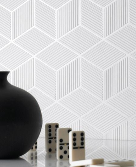 Cubix (nonwoven)- White wallpaper from www.grahambrown.com