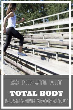 20 Minute Total Body HIIT Bleacher and Stairs Workout | A fun, quick, and effective workout to blast fat and build muscle | A Beautiful RAWR
