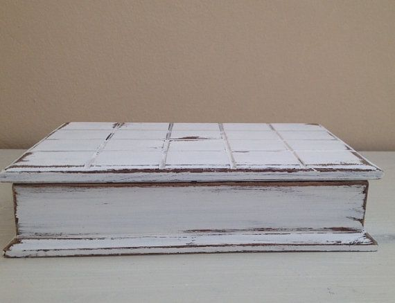 SHABBY CHIC JEWELRY Organizer Storage Box White Distressed Jewelry Chest Wood Jewelry Armoire Cottage Chic Farmhouse Rustic Storage Cabinet Please check out our other items that are currently in stock:  www.etsy.com/shop/SouthamptonVintage
