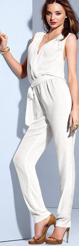 Love the Victoria's Secret Silk Open Back Jumpsuit. Not a fan of their fabric choices but this one was luxurious.