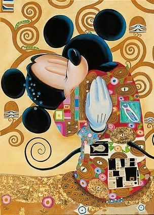 Disney does Klimt - the original is one of my favorites!