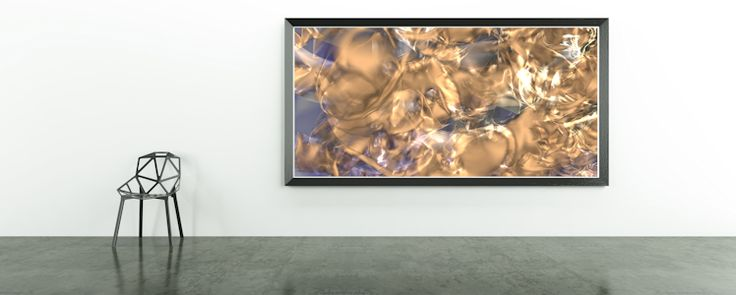 Golden Synapse by Eric Nagel.  #abstracts #contemporaryart #creative #artlovers #artnews #Home #Decor #Wandgestaltung #Kunst #meer #Art #Bild #wandbild #Galerie #Foto #digital #art #poster #interior #Design #dekoration #EricNagel