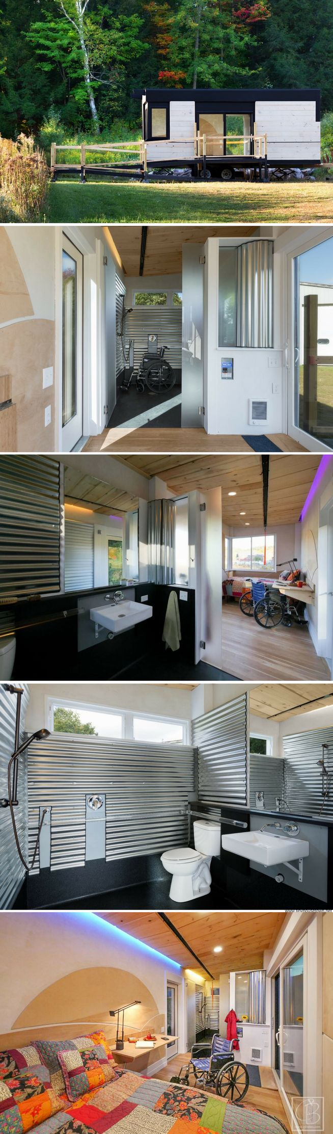 The Wheel Pad: a 200 sq ft tiny house that's fully wheelchair accessible!