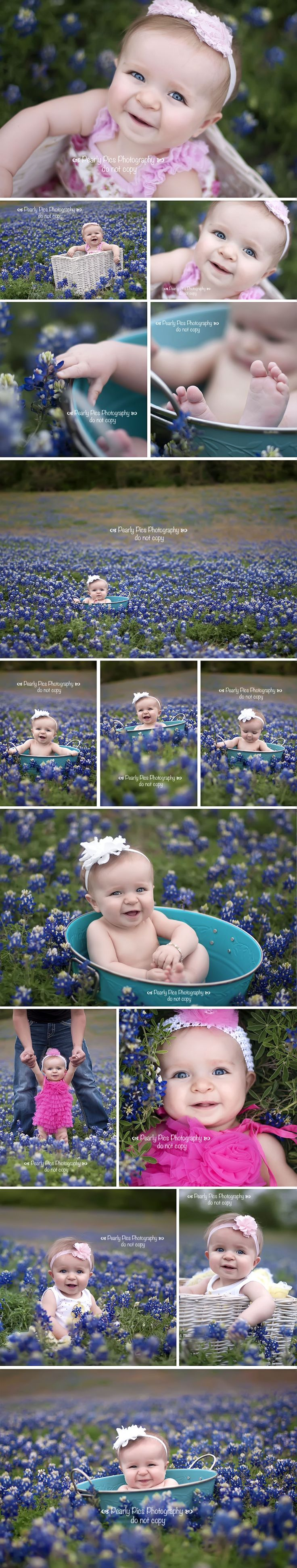 Baby Ella in the bluebonnets! I wish we had fields like this in Indiana!
