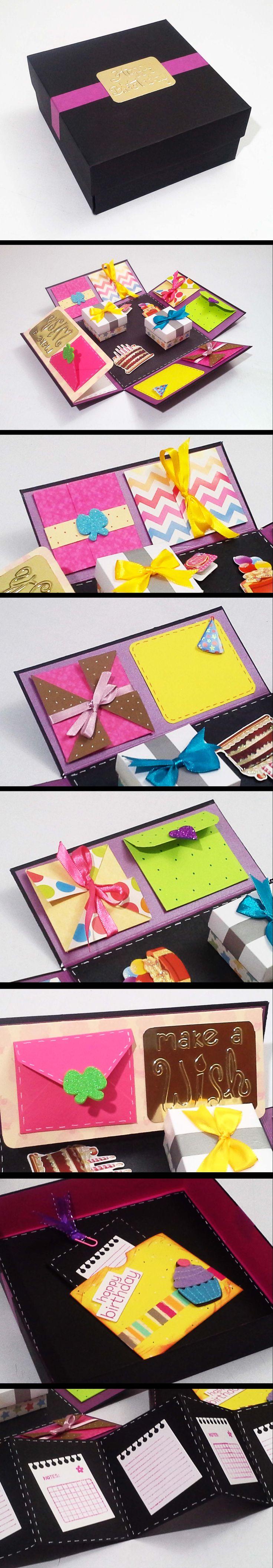 Caja scrap para cumpleaños