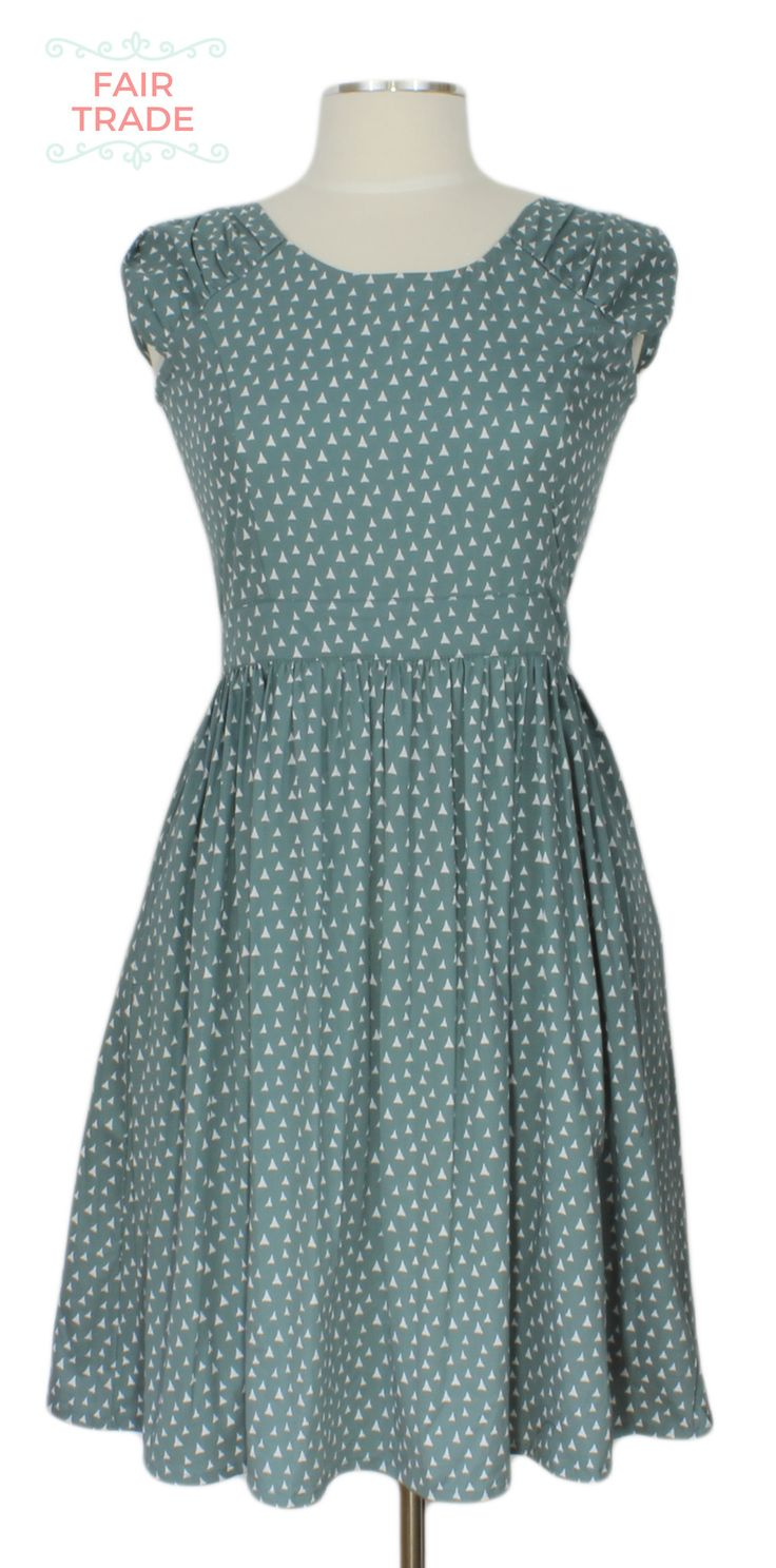 The Looking Glass Dress @ Ever Rose #fairtrade #matatraders #silverblue #retro #dress