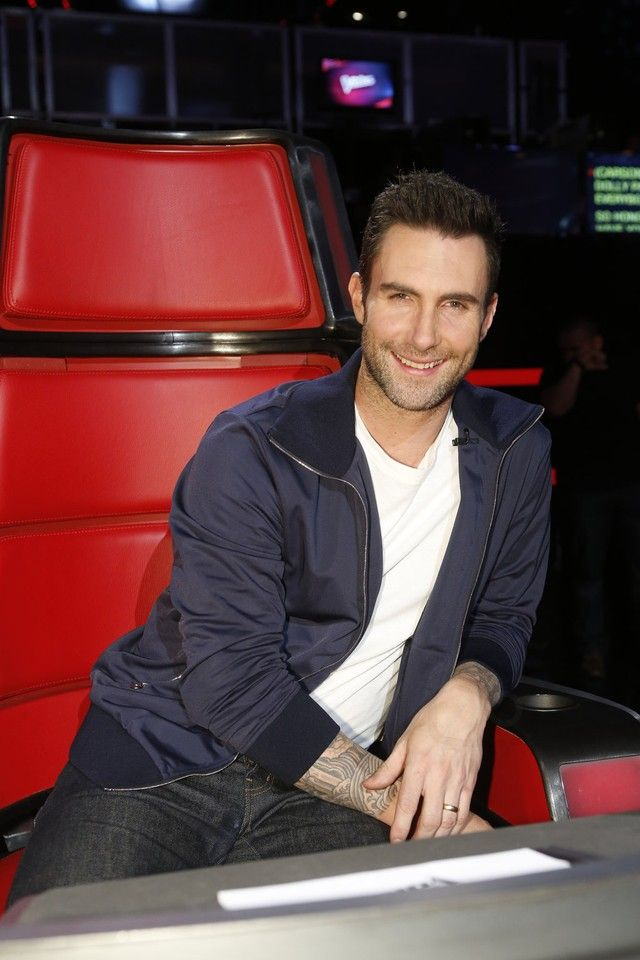 Adam Levine wearing  Gucci Round Neck T-Shirt, Opening Ceremony X Vans Authentic 5, Acne Flaus Zipped Track Jacket