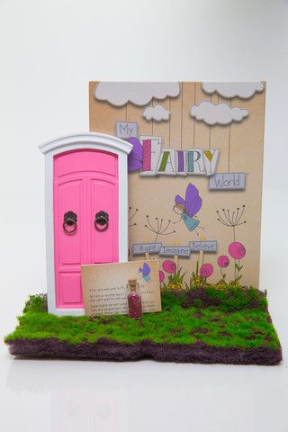 My Fairy World Fairy Door Kit - Pink, Purple, Yellow and Blue – Butterfly Garden (for kids!)