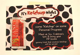 Ketchup on Personal Progress Activity - Young Women Inspiration