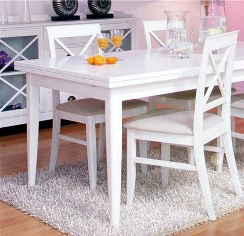 Mesa de comedor blanca para la casa pinterest ideas for Sillas amarillas comedor