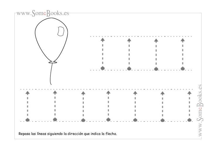 En este apartado encontraremos fichas para practicar el trazo hacia abajo y hacia arriba. Este trazo está indicado con líneas punteadas que facilitan el recorrido que los niños tienen que realizar. Si quieres descargar una...