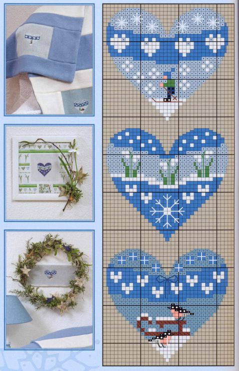 Winter heart perler bead pattern