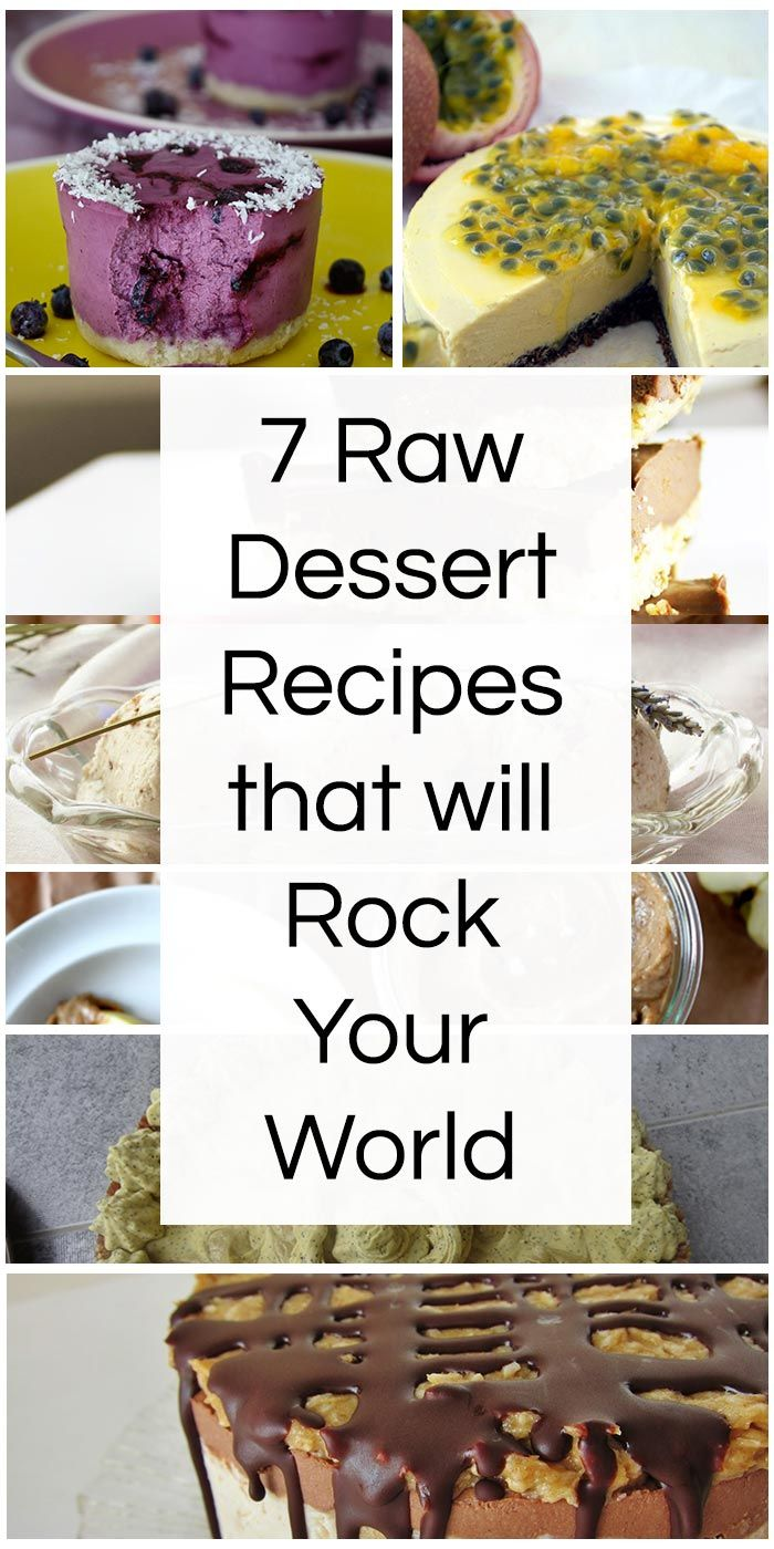7 Raw Dessert Recipes that will Rock Your World
