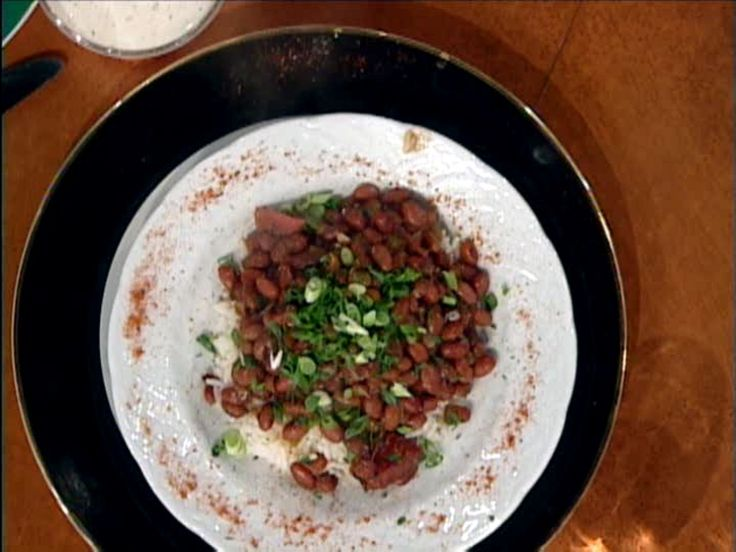 Red Beans and Rice recipe from Emeril Lagasse; can use smoked or grilled wild turkey and smoked sausage. Make broth with sausage, turkey, and sautéed garlic, onions and bells. Cook rice in broth.