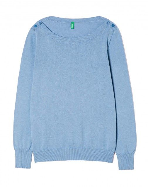 Shop Boat neck top Blue for Crew Neck at the official United Colors of Benetton online shop.