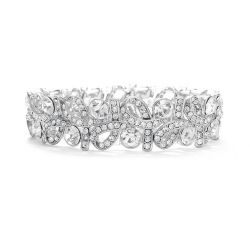 Crystal Ribbons Stretch Wedding Bracelet