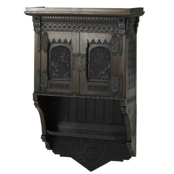 Hand carved cabinet by Benn Pitman and Anna Jordan, Cincinnati Aesthetic  Movement ca. The cabinet combines several elements of historic revival  design with ... - 70 Best Cincinnati Art Carved Furniture Images On Pinterest 3/4