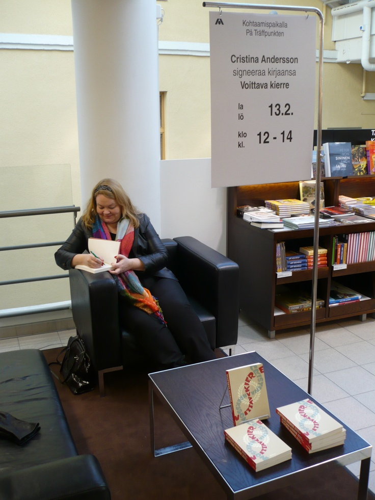 Book signing in the Academic Bookstore.