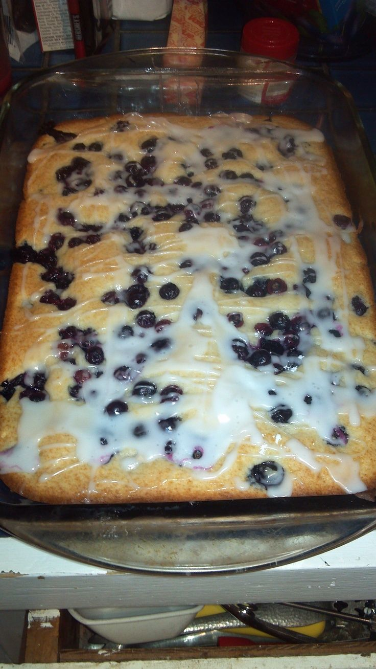 Suzy's Blueberry Coffee Cake Recipe ~ This is a wonderful recipe to make for a brunch, luncheon or even a mid-night snack! It is pure heaven!