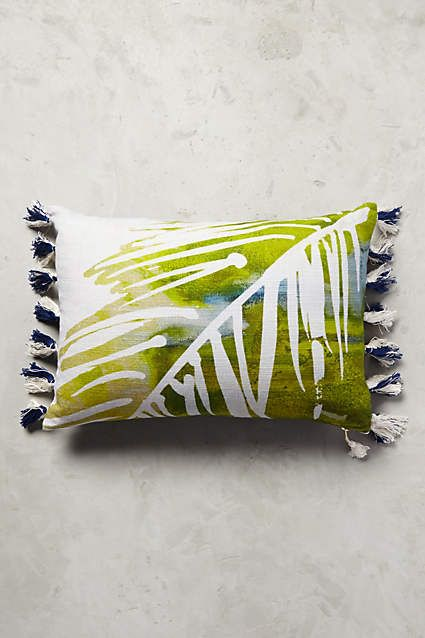 Palm Print Pillow - anthropologie.com