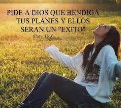 Agradecele y hablale a Dios con fe en el nombre de Jesus y hablale de todo corazón.