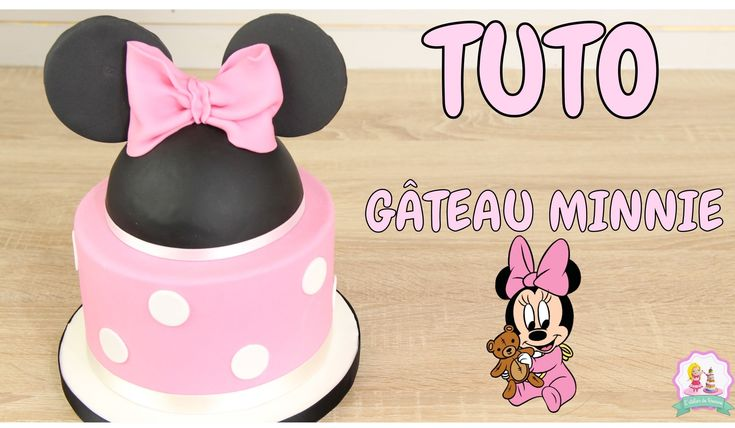 ♡• GATEAU D'ANNIVERSAIRE MINNIE PATE A SUCRE - DECORATION GATEAU CAKE DE...