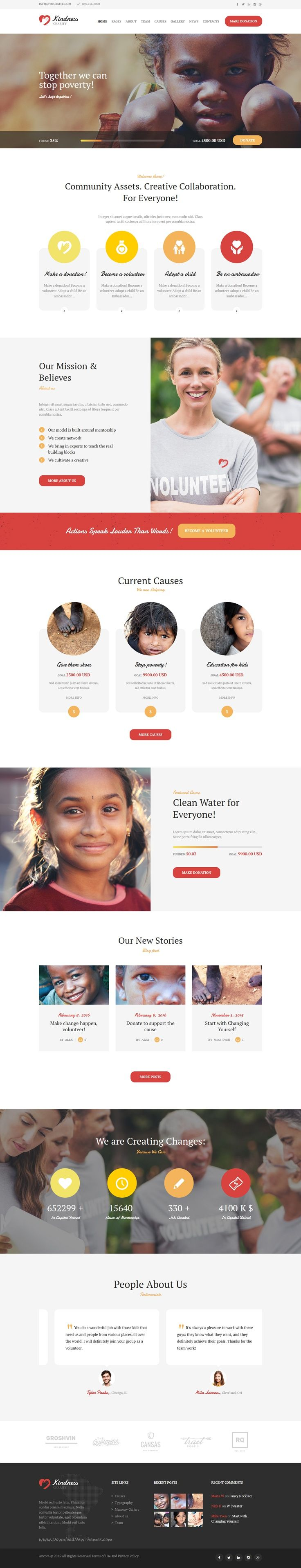 Kindness is modern and functional design #WordPress theme for #charity, NGO or #fundraising website download now➯ https://themeforest.net/item/kindness-nonprofit-charity-donation-organizations/13883055?ref=Datasata