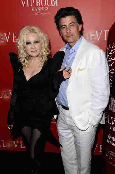 CYNDI LAUPER AND HER HUSBAND DAVID THORTON
